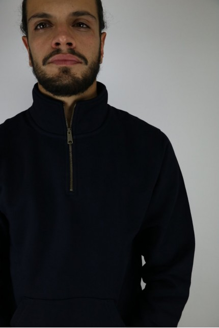 Sweat Chase Neck Zip Sweat Dark Navy / Gold Carhartt Wip