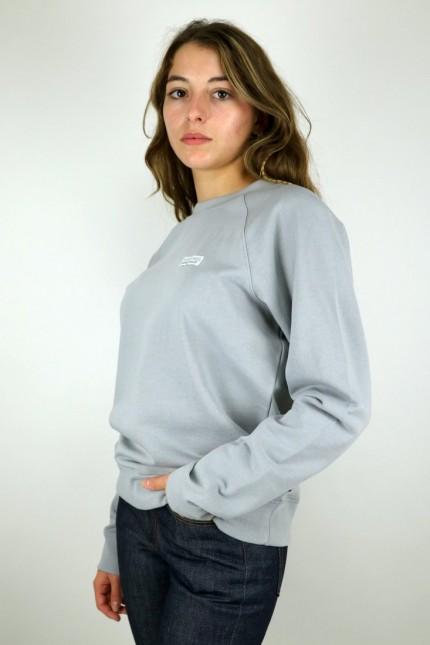 W's Pastel P-6 Label Organic Crew Sweatshirt Salt Grey Patagonia