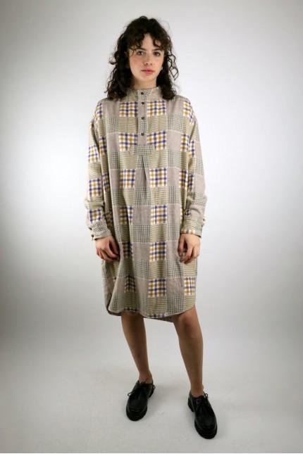 Griffon Check Flannel Dress Multi YMC