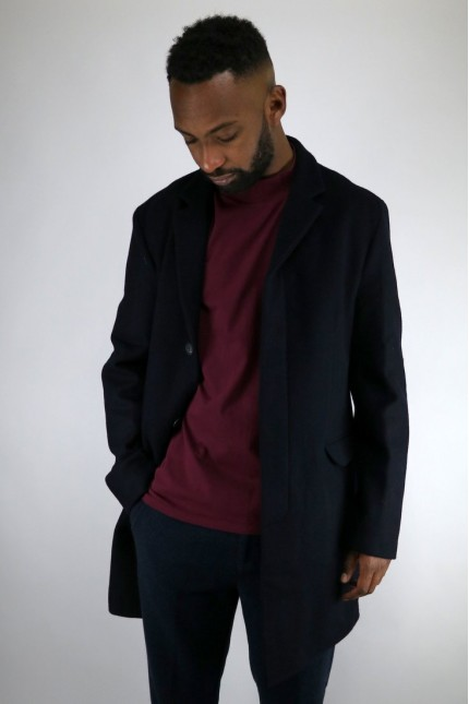 Manteau Leeds Double Melt Navy Homecore