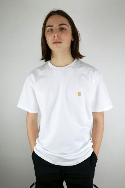 Chase T-shirt White / Gold Carhartt