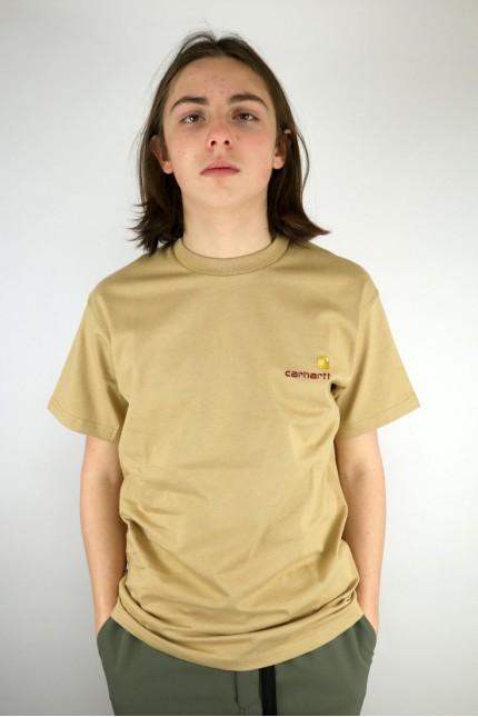 T-Shirt American Script Dusty H Brown Carhartt