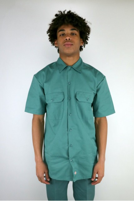 S/S Work Shirt Lincoln Green Dickies