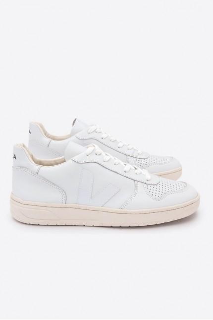 Basket V10 Leather Extra White VEJA