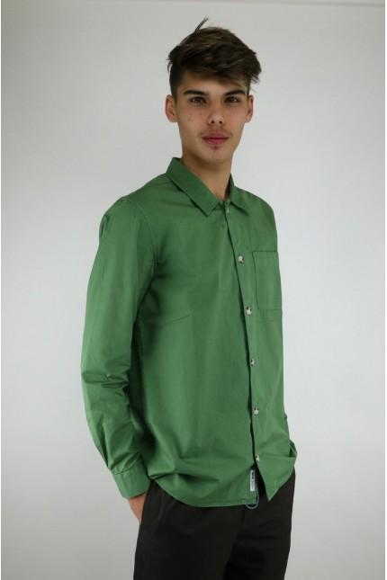 Aleksei Shirt Green Wood wood