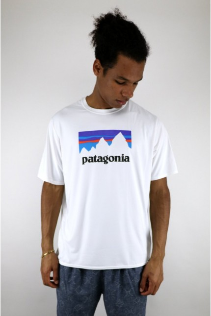 Capilene Cool T-shirt Daily Graphic White Patagonia
