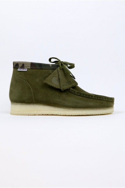 Wallabee Boot Olive Camouflage CLARKS ORIGINALS x CARHARTT WIP
