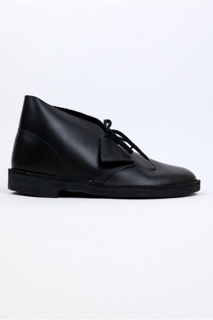 Desert Boot Black Polished Clarks Originals