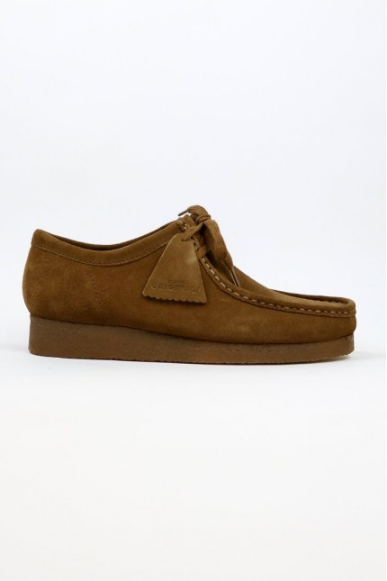 Wallabee Cola Suede Clarks Originals