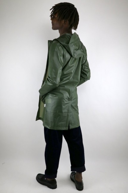 Hooded Coat Foggy Green Rains